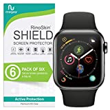 (6-Pack) Apple Watch 44mm Screen Protector (Series 5 or 4) RinoGear Case Friendly iWatch Screen Protector for Apple Watch Series 5, 4 44mm Accessory Full Coverage Clear Film
