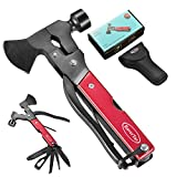RoverTac Multitool Camping Accessories Survival Gear Ourdoor Multi Tool Gifts for Men Women 14 in 1 Hatchet with Knife Axe Hammer Saw Screwdrivers Pliers Bottle Opener Durable Sheath