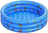 Piscine Gonflable de Rembourrage de Petite Piscine pour Enfants Ronde Pliable en PVC pour Douche familiale Baignoire Portable en Centre de Jeu de l'eau pêche (100 CM)