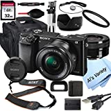 Sony Alpha a6000 Mirrorless Digital Camera with 16-50mm Lens+ 32GB Card, Tripod, Case, and More (18pc Bundle)