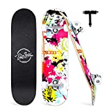 Beleev Skateboards for Beginners, 31'x8' Complete Skateboard for Kids Teens & Adults, 7 Layer...