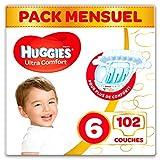 Huggies - Ultra Comfort - Couches Bébé Unisexe - Taille 6 (15-30 kg) x102...