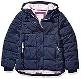 Amazon Essentials Girls' Heavy-Weight Hooded Puffer Jackets, Navy Blue, Medium