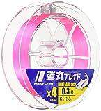 メジャークラフト PEライン 弾丸ブレイド 4本編み ライトゲーム用 DBL4-150/0.4PK ピンク 150M/0.4号