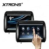 XTRONS 2 x 9 Inch Pair Car Headrest DVD Player HD Digital Adjustable Touch Screen 1080P Video Auto Games HDMI