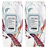 Body Prescriptions 2 Pack (60 Count Each) Retinol Facial Cleansing and Gentle Make Up Remover Wipes – Flip Top Pack