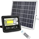 Led Solar Flood Lights Outdoor, Bemexred Remote Control Solar Lights Dusk to Dawn 1500 Lumens 12W Large Solar Panel Motion Sensor Solar Security Light IP65 Waterproof for Yard,Barn,Driveway,Deck,Farm