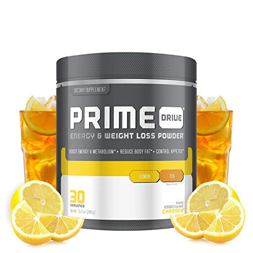 Complete Nutrition Prime Drive Energy & Weight Loss Powder, Lemon Tea, Increase Energy, Boost Metabolism, Fat Burner, Appetite Suppressant, 10.2oz (30 Servings) 1