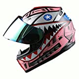 WOW Motorcycle Full Face Helmet Street Bike BMX MX Youth Kids Shark Pink