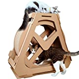 Creation Core Multi-Level Cat Scratcher Board Ferris Wheel Shaped Toy Bed Scratching Posts Cave Activity Centre Cat Waterwheel Furniture for Kittens Cats and Pets