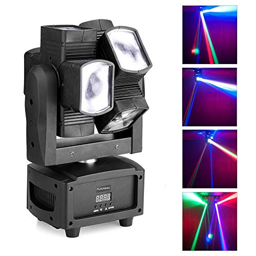 VRCT DMX512 Portable Professional Moving Head Light Mini Spider Stage Lamp 8x3W with RGBW 4 Colour LED Light Disco Lights