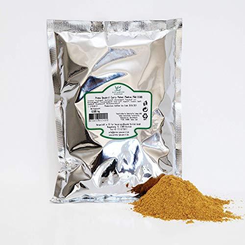 Curry Pulver Indisch Madras Scharf 0.500 kg, Gewürzgroßhandel Krefeld, Prima Gewürzt
