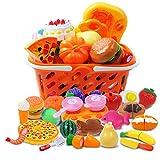 DigHealth 34 Piezas Alimentos de Juguete, Corte de Frutas y Alimentos Falsos, Cortar Frutas...