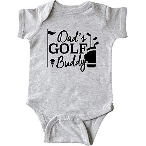 inktastic Dad's Golf Buddy Infant Creeper 18 Months Heather Grey