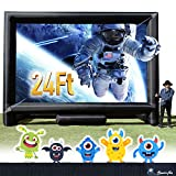24FT Inflatable Mega Movie Screen Outdoor - Front and Rear Projection - Portable Blow Up Projector Screen for Grand Parties, Easy to Set Up (Blower NOT Include, Available in Our Store)