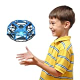 Hand Operated UFO Drone for Kids or Adults - Hands Free Mini Drone with 6 Sensors, Easy Indoor Flying Toys for Boys & Girls, Great Christmas Party Game Toys Christmas Gift Choice for Kids
