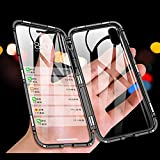 "iPhone12mini 5.4"" ケース 磁気吸着ケース前後の透明両面強化ガラス LADLOD アイフォン12……"