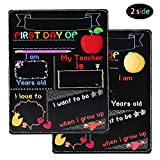 First Day of School Board, My First Day of School Chalkboard, First Day of School Sign Reusable, Back to School Board 10 x 8 inch Double Sided Photo Prop for Kids