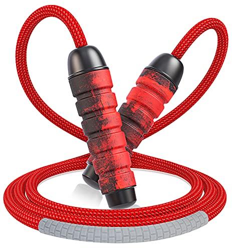 Cocoda Springseil Erwachsene, Gewirr-frei Seilspringen mit kugellager, Verstellbar Beständig Jump Rope mit...