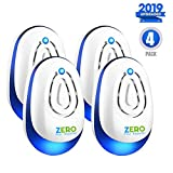 Ultrasonic Pest Repeller, 2019 Upgraded 4 Pack Ultrasonic Pest Control Reject Devices Electronic Plug In Repellent Defender Home Indoor for Rat Mosquito Mice Spider Ant Roaches Bugs Flea Insect