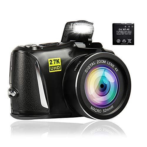 Digital Camera Camcorder Full HD 2.7K Vlogging Camera 48.0 MP...