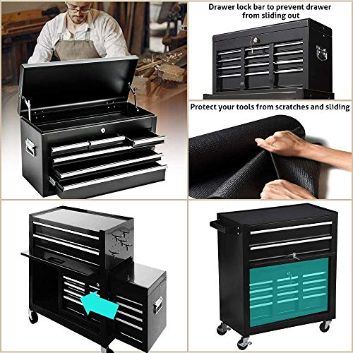 Product Image 5: 8-Drawer Tool Chest Tool Box,High Capacity Rolling Tool Chest Tool Storage Cabinet with 4 Wheels, 2 in 1 Large <a href=