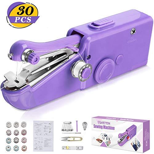 SAFETYON Macchina da cucire 30 pezzi, Mini macchina da cucire a mano Macchina da cucire portatile...