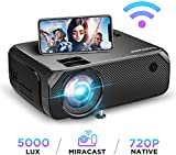 Wi-Fi Mini Projector, Upgraded 5000 Lux, Bomaker Portable Outdoor Movie Projector, Full HD 1080P...