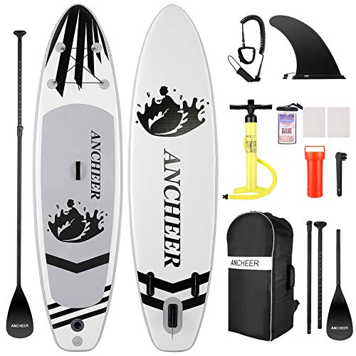 ANCHEER Inflatable Stand Up Paddle Board (6 Inches Thick), iSUP...