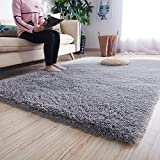 Noahas Luxury Fluffy Rugs Ultra Soft Shag Rug for Bedroom Living Room Kids Room, Child and Girls Shaggy Furry Floor Carpet Nursery Rugs Modern Indoor Home Decorative, 5.3 ft x 7.5 ft, Grey