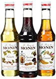 Monin Coffret Chaud Noisette/Caramel/Chocolat Cookie 3 x 25 cl