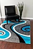 0327 Turquoise 7'10x10'6 Area Rug Carpet Large New