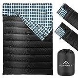 Forceatt Camping Sleeping Bag | Double Sleeping Bag, 3 to 4 Season Adults & Teens 23℉/-5℃ Lightweight Backpacking Water Repellent Warm Sleeping Bag for Outdoor Hiking