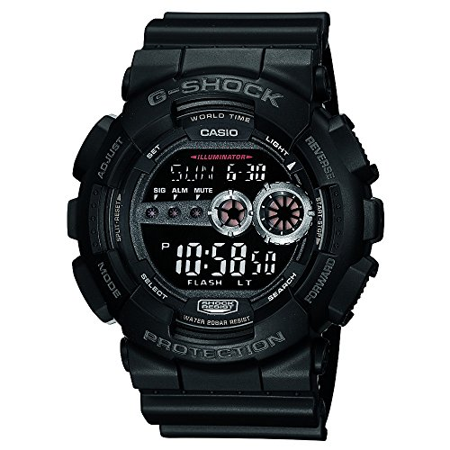 Casio Men's GD100-1BCR G-Shock X-Large Black Multi-Functional Digital Sport W...