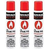 Ronson 99146 Large Lighter Butane Refill 78 Grams 2.75 Ounce (Pack of 3)