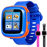 🔥KIDS GAME WATCH:GBD Gen1 smart game watch with 1.5 inch full-colorful LCD touch screen that designed for kids,smooth sensitive touch feel that teaches and entertains kids age 3 to 12, Adjustable wristband is 2.16-7.87 Inches,20 different lovely cloc...