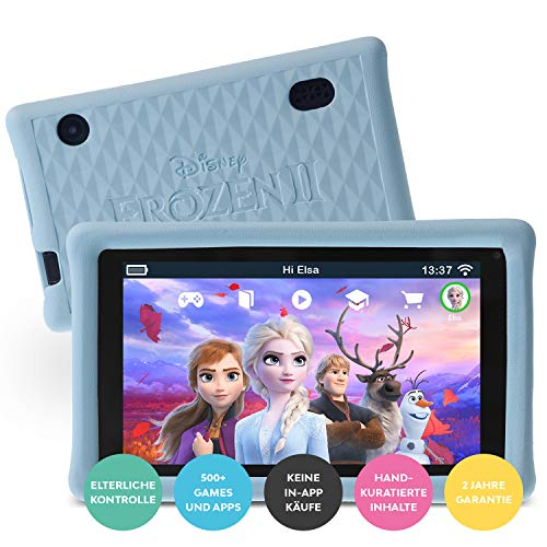"Pebble Gear Kinder Tablet 7"" Die Eiskönigin 2 - Disney Frozen 2 kids tablet mit kindgerechter Hülle / stoßfester Bumper, elterliche Kontrolle, Blaulichtfilter, 500+ Spiele, Apps, E-Books, Wi-Fi, 16 GB"