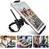 "Abovetek Universal Handlebar Mount for iPad – iPhone - Tablet – Anti-Shock 360 Degree 3.5"" to 12"" Expandable Pole Strap Phone Holder Cradle for Indoor Cycling, Gym, Treadmill, Spin Bike, Elliptical"