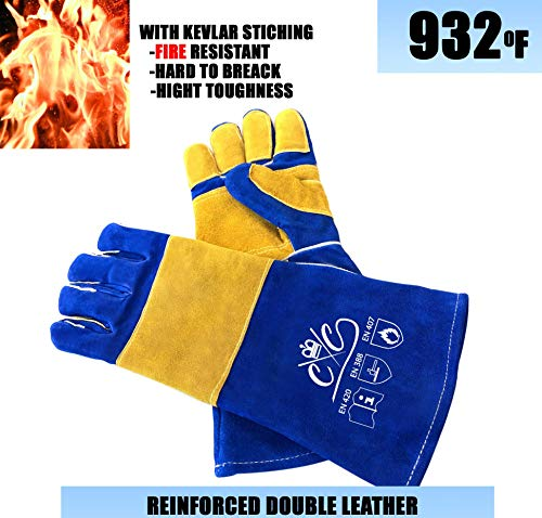 Premium-Leather-Welding-Gloves-Heat-Fire-Resistant-Welders-Glove-Mig-Welding-Gloves-Oven-Grill-Fireplace-Furnace-Stove-Tig-Welder-BBQ-Coal-Forge-Glove-16-inches-Extra-Long-Sleeve-Kevlar-Stitch