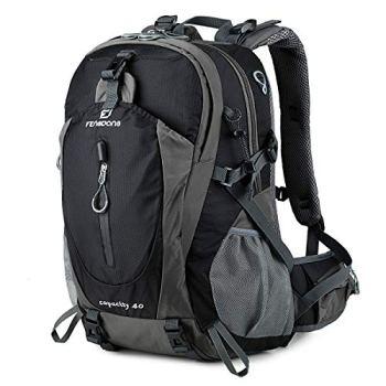 FENGDONG 40L Waterproof Lightweight Outdoor Daypack Hiking,Camping,Travel Backpack for Men Women Black