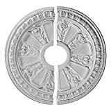 Ekena Millwork CM17RA2 Raymond Ceiling Medallion, 17 5/8'OD x 3 5/8'ID x 7/8'P (Fits Canopies up to 3 5/8'), Factory Primed