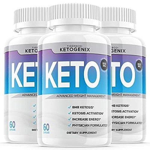 (3 Pack) Ketogenix Keto Max Pills Shark Tank Advanced Weight Loss