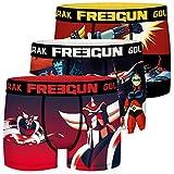FREEGUN Calecon Boxer Homme Microfibre Goldorak (Lot de 3) Taille XL