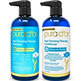 PURA D'OR Hair Thinning Therapy System - Biotin Shampoo & Conditioner...