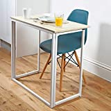 Folding Utility Table | Space-Saving Desk already assembled just fold the legs out | Folds Flat to...