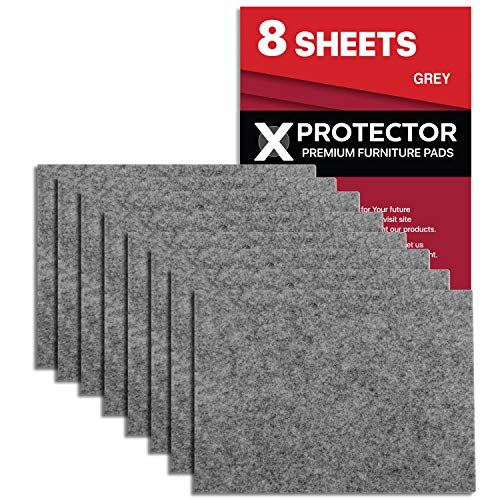 Feltrini adesivi X-PROTECTOR – 8 Feltrini per mobili di 5mm – Kit feltrini grigio – Feltrini divano e altri mobili...