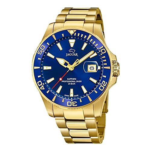JAGUAR J877/1 Executive Collection Armbanduhr, 43,5 mm, blaues Gehäuse mit beschichtetem Stahlband