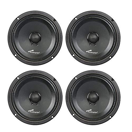 (4) AUDIOPIPE APMB-8SB-C 8' TWO PAIR FULL RANGE CAR AUDIO DJ SEALED BACK MID