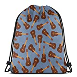 Lawenp Hot Dog Hamburger Pizza Slice Pattern Unisex Outdoor Gym Sack Bag Travel Mochila con cordón