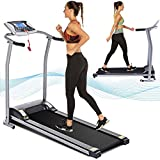 Electric Folding Treadmill for Home with LCD Monitor,Pulse Grip and Safe Key Fitness Motorized Running Jogging Walking Exercise Machine Space Saving for Home Gym Office Easy Assembly (Dark Gray)
